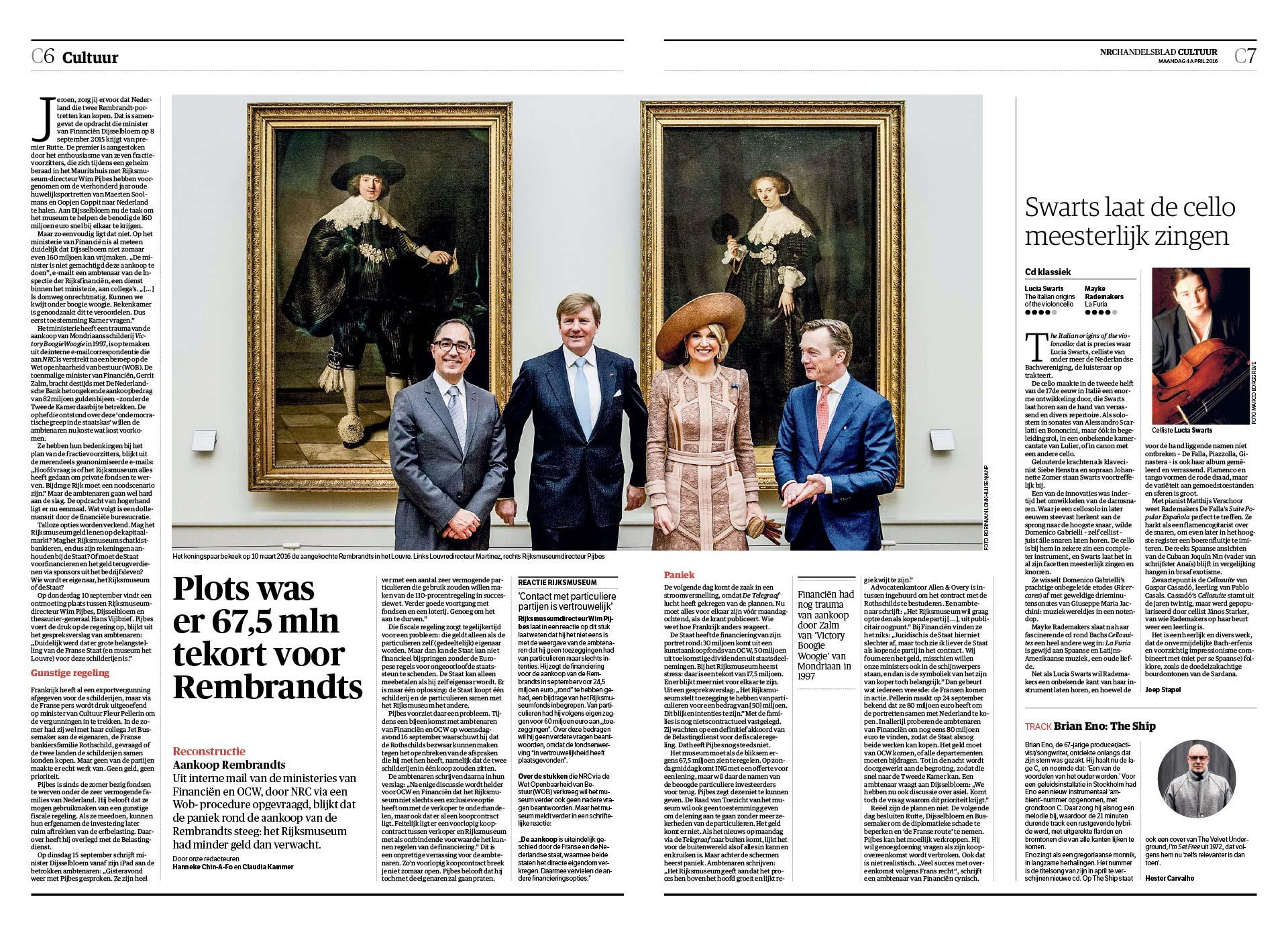 NRC Handelsblad, NRC Handelsblad, 3 april 2016
