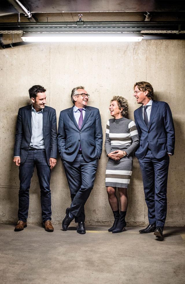 De hoofdredactie van NRC: Egbert Kalse, Peter Vandermeersch, Marike Stellinga, Stijn Bronzwaer, Marcella Breedeveld