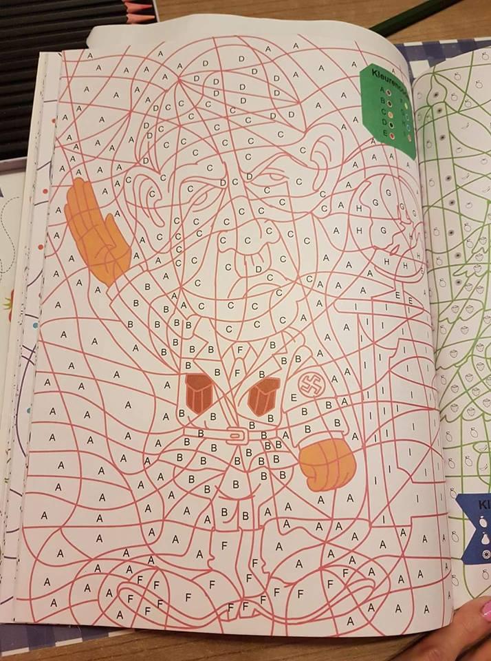 kruidvat haalt kleurboek met tekening uit schappen