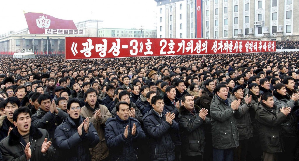 Burgers vierden ook mee in Pyongyang.