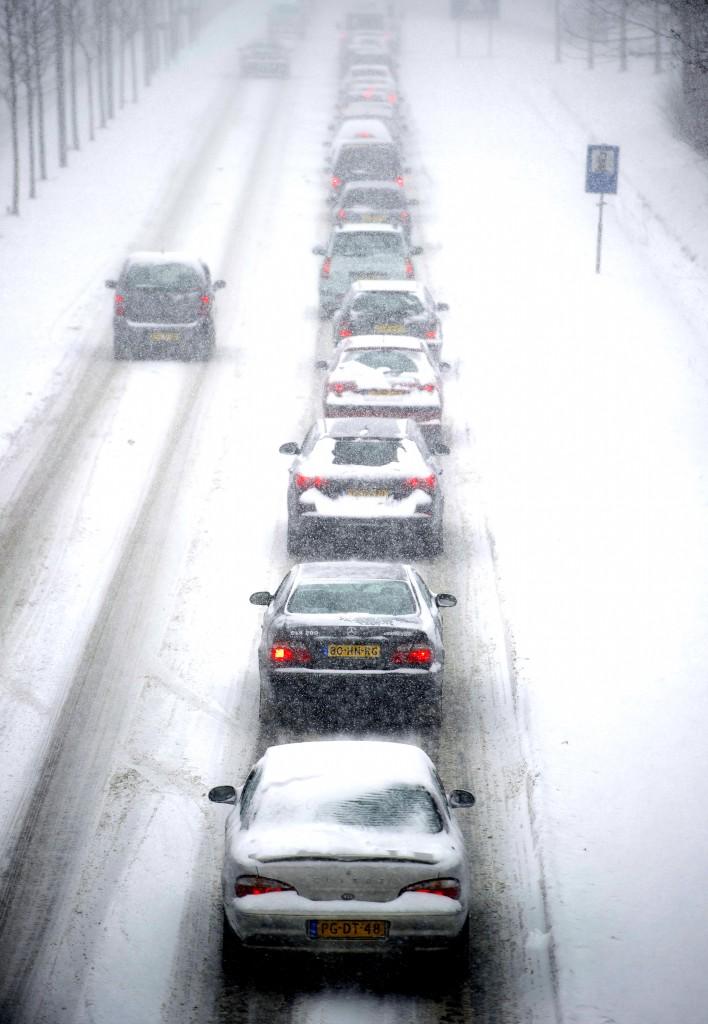 Het verkeer in het zuidoosten van Nederland is ernstig verstoord.