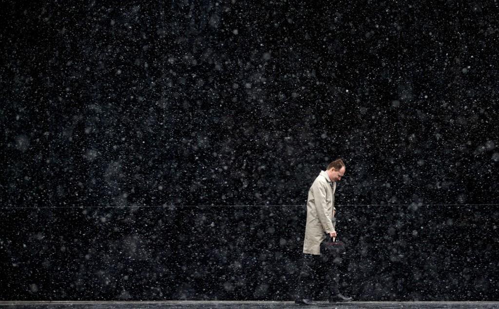 Gisteren viel de sneeuw al in Groot-Brittannië, ook hier met temperaturen onder het gemiddelde voor deze tijd van het jaar. Londen.