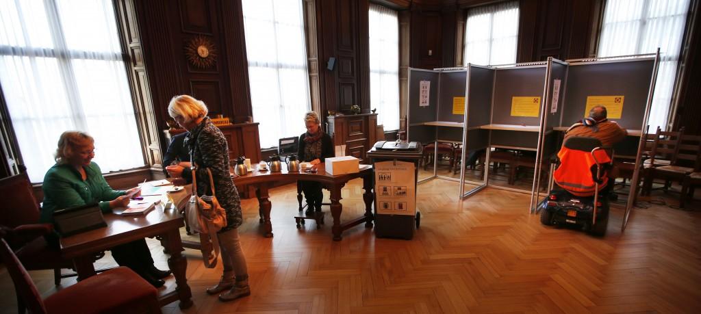 Een stemlokaal in Joure