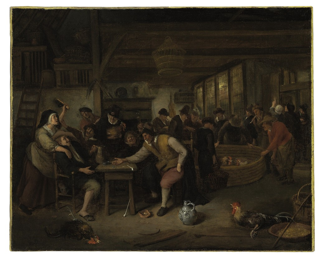 Door: Jan Havickszoon Steen uit Leiden (1626-1679). Op het schilderij: een gevecht in een taveerne. Olie op canvas. Verwachte opbrengst: 20.000 tot 30.000 dollar (18.000 tot 27.000 euro).