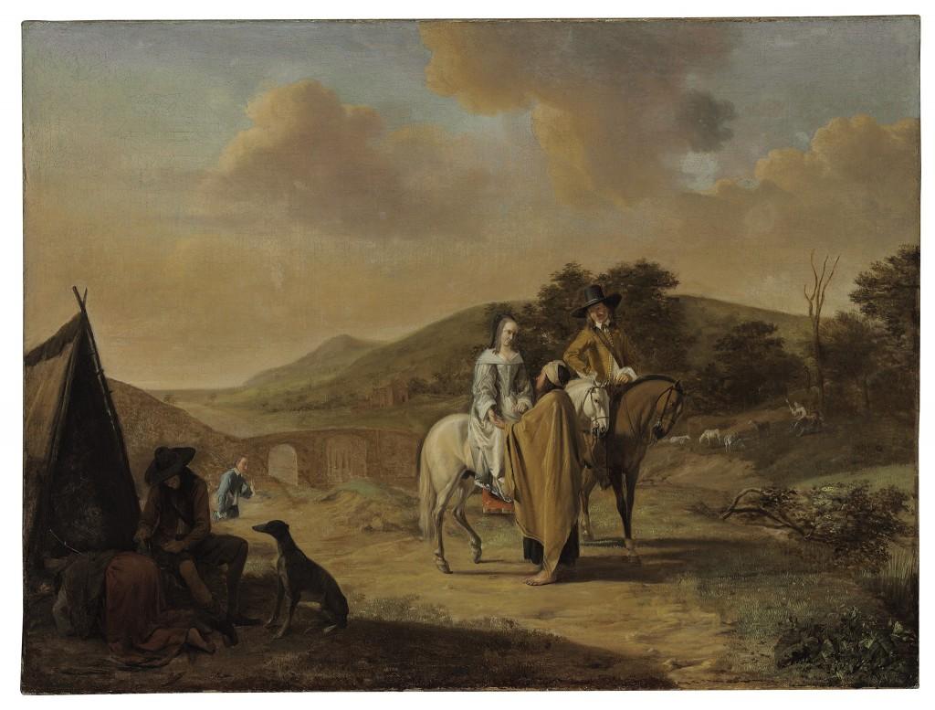 Door: Ludolf de Jongh uit Overschie (1616-1679). Naam van het schilderij: The Fortune Teller. Olie op canvas. Verwachte opbrengst: 6.000 tot 8.000 dollar (5.300 tot 7.100 euro).