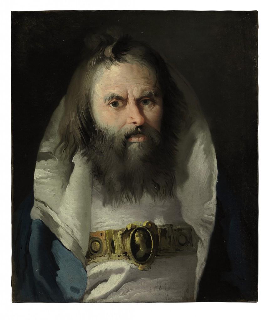 Door: Lorenzo Baldissera Tiepolo uit Venetië (1736-1776). Op het schilderij: een portret van een man. Olie op canvas. Verwachte opbrengst: 5.000 tot 7.000 dollar (4.400 tot 6.200 euro).