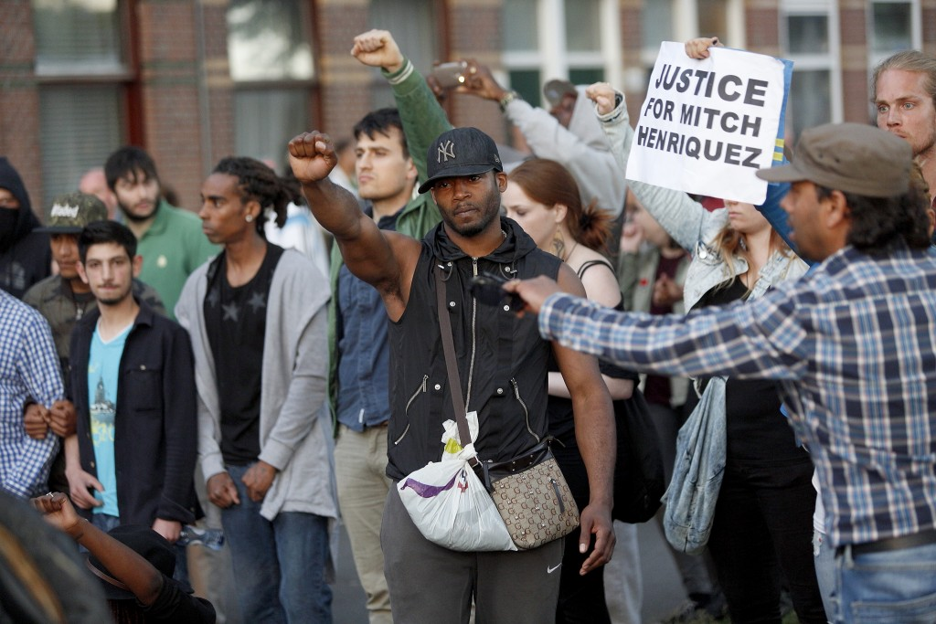Demonstranten eisen gerechtigheid.