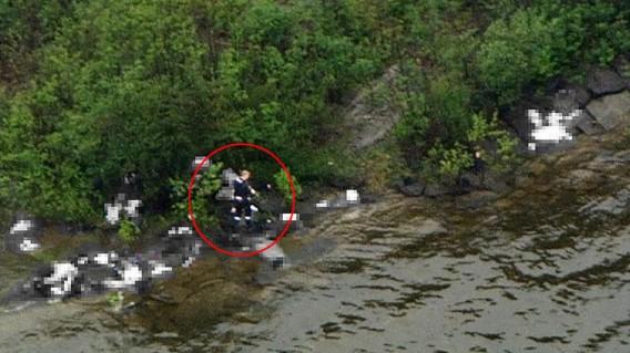 De schutter op het eiland Utoya. Foto dagbladet.no