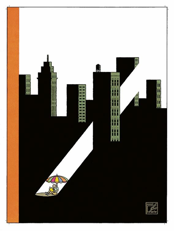 De cover van de New Yorker, ontworpen door Joost Swarte.