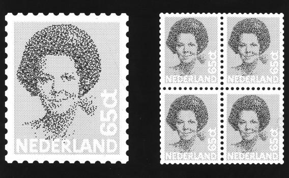 Een oude postzegel uit het guldentijdperk. Er zijn nog miljoenen oude postzegels in omloop. Foto ANP