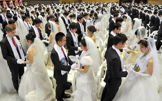 De plechtigheid maal 3500. Foto AFP / Kim Jae-Hwan